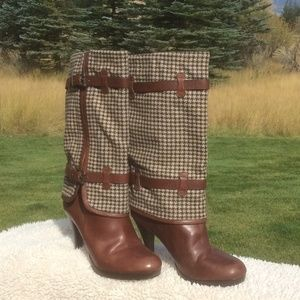 Cole Haan Brown Leather High Heeled Boots